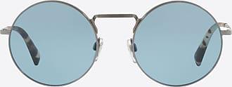 Valentino Valentino Occhiali Round Frame Metal Sunglasses unisex Blue Metal 100% OneSize