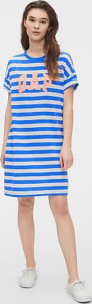 GAP Vestido GAP Curto Logo Azul