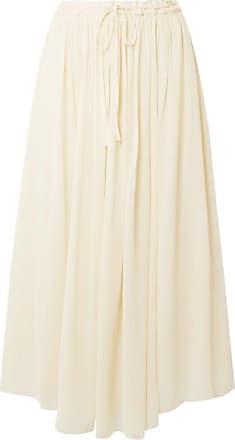 Forte_Forte Silk-crepon Midi Skirt - Ivory