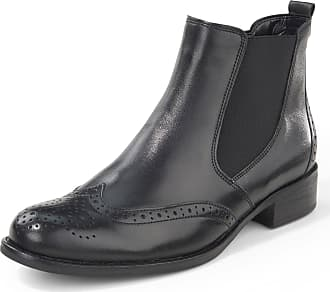 Gabor Chelsea boots Budapester perforation Gabor black