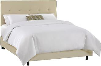 Skyline Furniture Five Button Velvet Upholstered Bed Velvet-Aubergine Purple, Size: Queen - 682BED-Q-VELVT-AUBRG