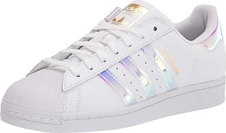 adidas Originals Womens Superstar Sneaker, White/Gold Metallic/Black, 10