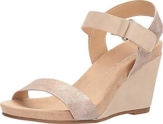 Chinese Laundry Womens Trudy Wedge Sandal, Rose Gold/Nude, 10 M US