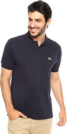 41c3b249428b Lacoste Camisa Polo Lacoste Classic Fit Azul Marinho