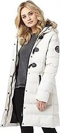 Brave Soul longline padded jacket with faux fur hood trim