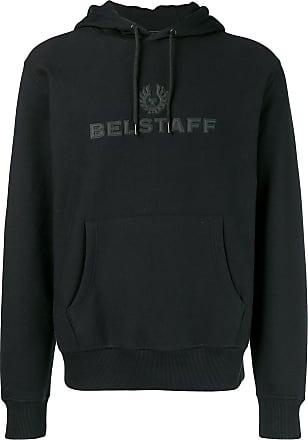 Belstaff Moletom com logo e capuz - Preto