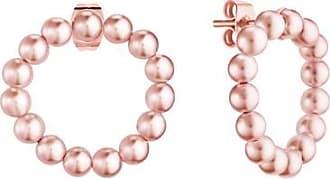 Misaki Boucles doreilles petites créoles Bliss de perles roses
