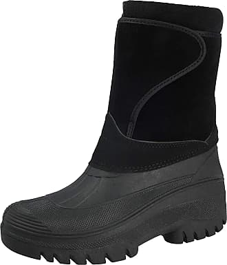 Groundwork New Ladies Horse Riding Yard Showerproof Stable Walking RAIN Snow Winter Ski Warm Farm Mucker Boots (7 UK, Black)