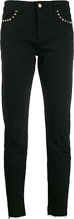 Escada Sport distressed-hem skinny jeans - Preto
