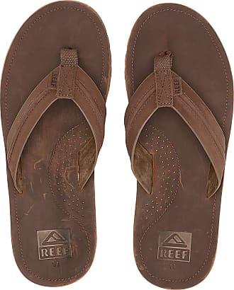 Reef Mens Voyage Lux Flip-Flop, Brown/Brown, 6.5 UK 7