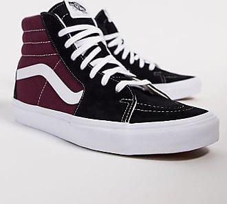 Vans – SK8 Hi – Sneaker in SchwarzBurgund