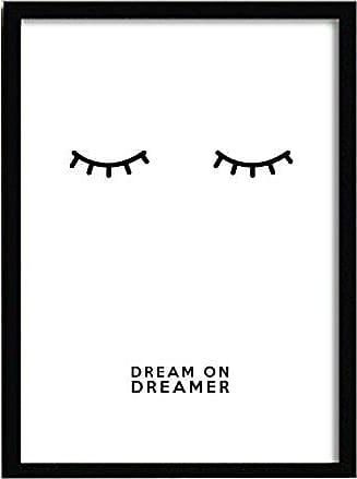 LO+DEMODA Quadro frase con cornice in acrilico e specchio 64x40x0.23 cm, multicolore