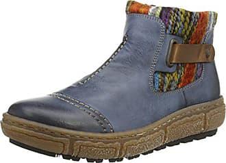 Rieker Damen Z7984 Kurzschaft Stiefel, Mehrfarbig (blau Kombi), 37 EU 8dac0617df