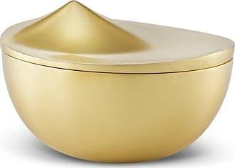 Stelton Mittelgroße Bonbonierre-Schmuckschatulle aus Messing - Gold