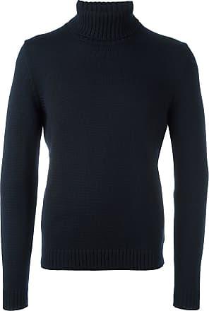 Zanone Suéter gola alta de tricô - Azul