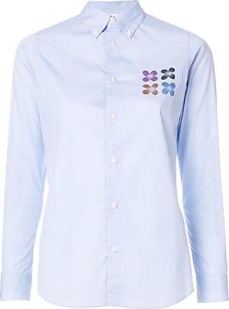 Visvim Camisa com bolso no busto - Azul