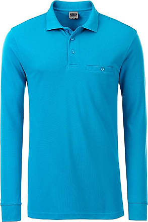 2Store24 Mens Workwear Polo Pocket Longsleeve in Turquoise Size: 5XL