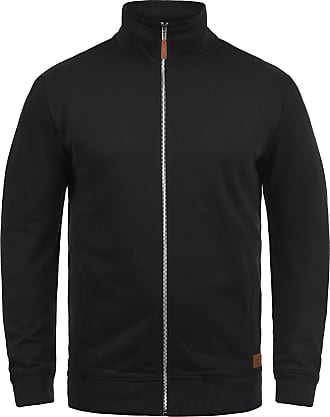 Blend Alio Mens Zip Up Sweater Zipper Jacket with Hood with Fleece Lining with Zipper, Size:XL, Colour:Black (70155)
