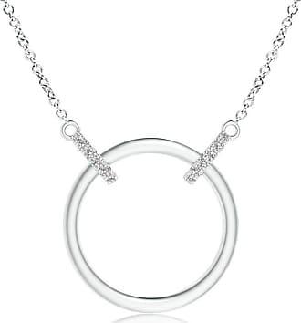 Angara Valentine Day Sale - Double-Bale Open Circle Diamond Necklace