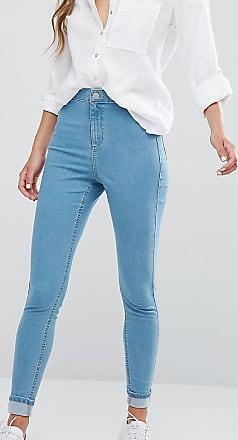 Miss Selfridge High Waist Skinny Jeans-Blue
