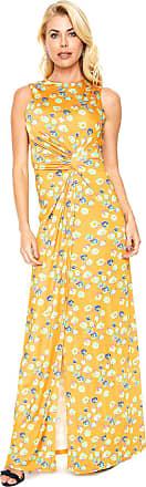 Tufi Duek Vestido Tufi Duek Longo Estampado Amarelo