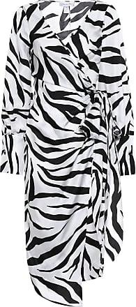 Oscar De La Renta Zebra-print silk twill wrap dress