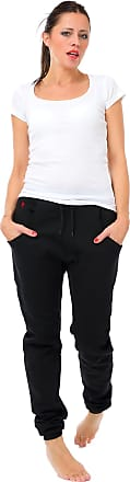 3Elfen Woman Jog Pants Jogger Sports Trousers Little Fairy, Running Gym Bottoms Baggy Style - Black red M