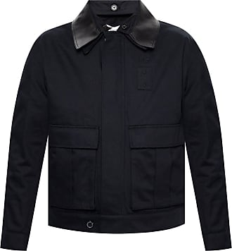 Loewe Jacket With Logo Mens Navy Blue