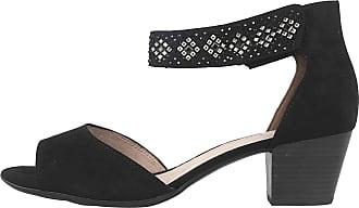 Jana Sandals in Plus Sizes Black 8-8-28321-24 1 Large Ladies Shoes Black Size: 10 UK