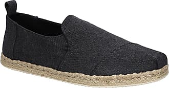 Toms Deconstructed Alpargata Rope Slip-Ons black washed canvas