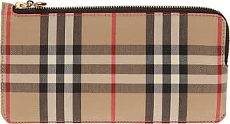 Burberry Checked Card Case Womens Beige