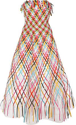 Oscar De La Renta flared long dress - Multicolour