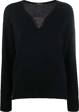 PESERICO metal embellished v-neck jumper - Preto