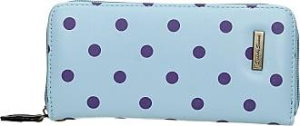 Swankyswans Bella Polka Dot Long Zip around Wallet Pastel Blue Purple Dot