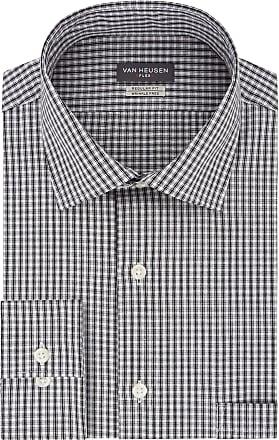 Van Heusen Mens Regular Fit Flex Collar Check Dress Shirt, Granite, XXL (Neck 45 cm Sleeve 81/84 cm)