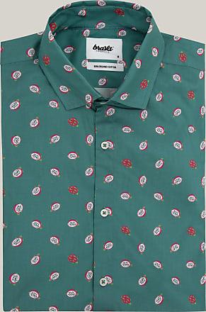 Brava Fabrics Camisa Estampada - Camisa Manga Corta para Hombre - 100% Algodón Orgánico - Modelo Pitaya Paradise