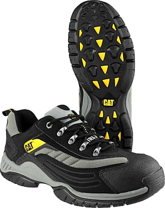 CAT Cat Moor Black/Silver Lightweight Safety Trainers 7025 (11)