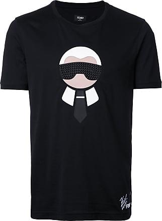 Fendi Camiseta Karl Loves Fendi - Preto