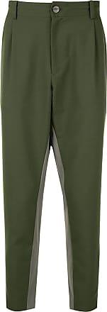 Yoshiokubo dropped crotch trousers - Green