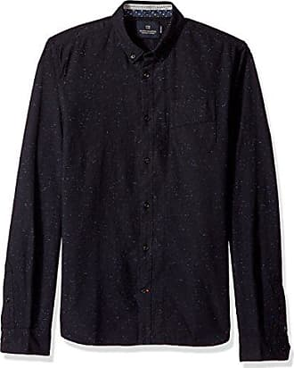 c8201b95 Scotch & Soda Mens Longsleeve Shirt with Neps and Chest Pocket, Midnight  Melange L