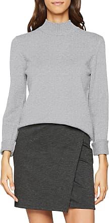 Vila Womens Viril L/s Turtleneck Knit Top-noos, Grey (Light Grey Melange), 12 (Size: 38 M)
