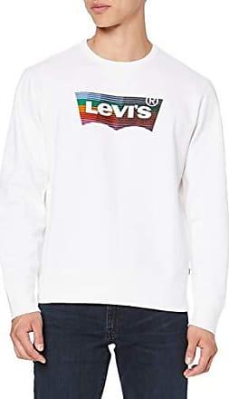 Levi's Felpa Graphic Uomo Blu girocollo Stampa con Logo