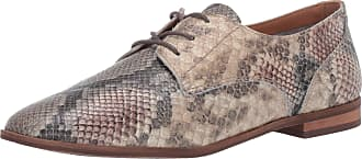 Frye Womens Piper Oxford, Taupe Snake, 9 UK