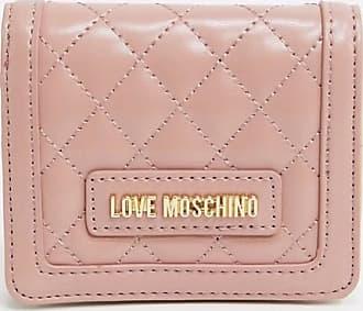 Love Moschino Kleine, gesteppte Geldbörse in Rosa