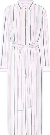 Asceno Gestreiftes Hemdblusenkleid aus Baumwolle