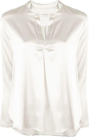 Blanca Blusa de seda - Branco