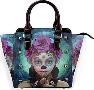 Browncin Scary Clown Horror Like Girls Gloves An Flowers In Her Head Showing Her Hands Print Detachable Fashion Trend Ladies Handbag Shoulder Bag Messenger Bag