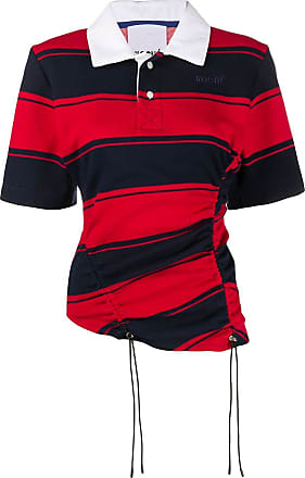 Koché Camisa polo mangas curtas com listras - Azul