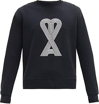 Ami Ami - Ami De Coeur-print Cotton Sweatshirt - Mens - Black