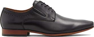 Aldo Mens Wide Width Dress Lace Up Shoes, WAKLERR-W in Black, Size 9.5 Uniform